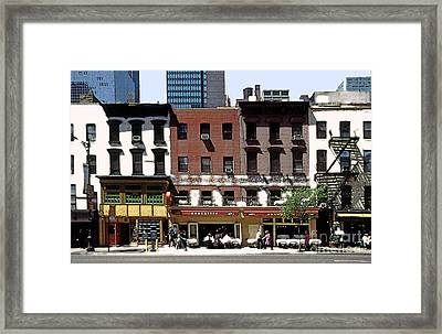 Second Avenue In New York City Framed Print by Linda  Parker
