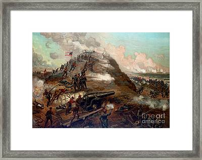 Second Battle Of Fort Fisher Framed Print by American School