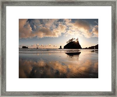 Second Beach Framed Print by Leland D Howard