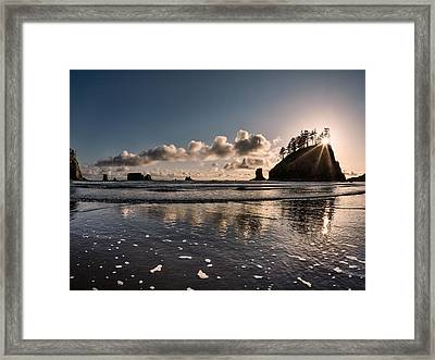 Second Beach Light And Current Framed Print by Leland D Howard
