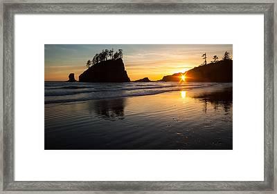 Second Beach Sunstar Framed Print by Mike Reid