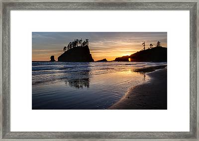 Second Beach Tranquility Framed Print by Mike Reid