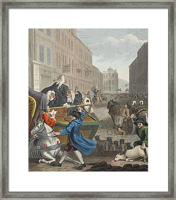 Second Stage Of Cruelty, Illustration Framed Print by William Hogarth