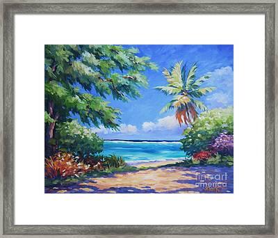 Secret Beach  Framed Print by John Clark