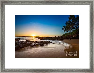 Secret Beach Sunset Framed Print by Jamie Pham