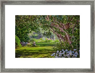 Secret Garden Framed Print by Omaste Witkowski