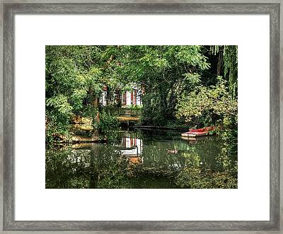 Secret Retreat - River Reflections Framed Print by Gill Billington