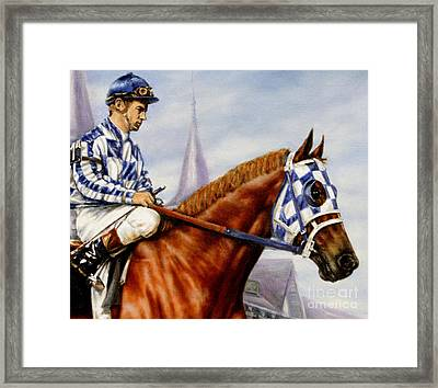 Secretariat At Churchill Framed Print by Thomas Allen Pauly