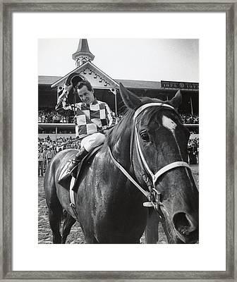 Secretariat Vintage Horse Racing #04 Framed Print by Retro Images Archive