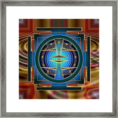 Secrets Of Mandala Time Framed Print by Mario Carini