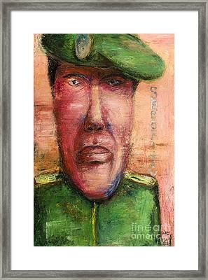 Security Guard - 2012 Framed Print by Nalidsa Sukprasert