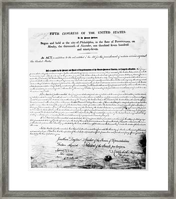 Sedition Act, 1798 Framed Print by Granger