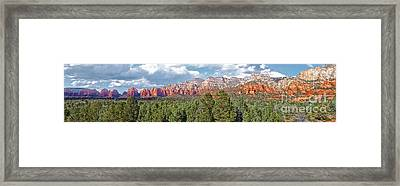 Sedona Arizona Panorama - 02 Framed Print by Gregory Dyer