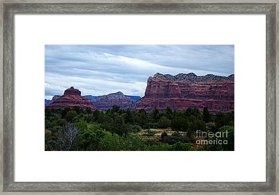 Sedona Arizona Reds Framed Print by Beverly Guilliams
