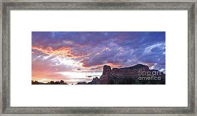 Sedona Arizona Sunset Framed Print by Gregory Dyer