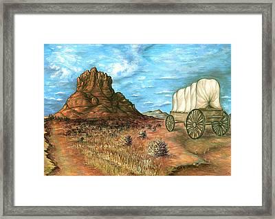 Sedona Arizona - Western Art Landscape Framed Print by Art America Online Gallery