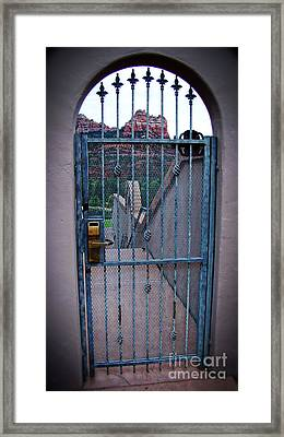 Sedona Iron Gate Entrance  Framed Print by Beverly Guilliams