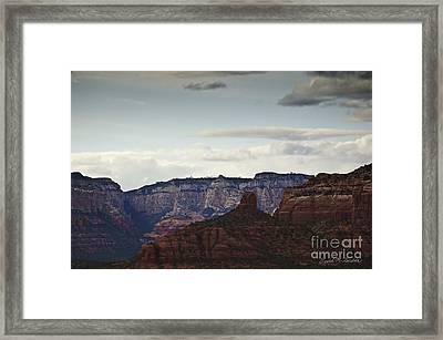 Sedona Landscape Xii Framed Print by Dave Gordon