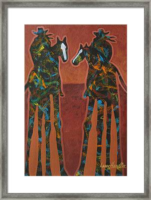 Sedona Sundown Framed Print by Lance Headlee