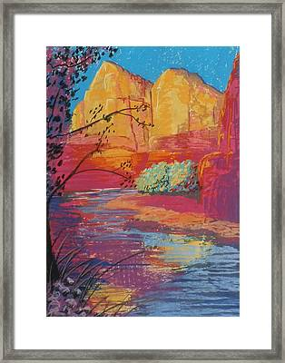 Sedona Sunrise Framed Print by Jann Elwood