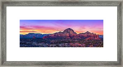 Sedona Sunset Framed Print by Michael Petrizzo