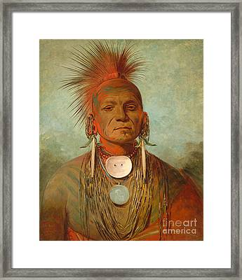 See Non Ty A An Iowa Medicine Man Framed Print by George Catlin