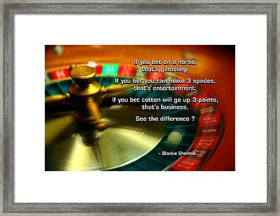 See The Difference Framed Print by Mike Flynn