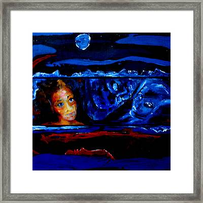 Seeking Sleep Trilogy Framed Print by Kathy Peltomaa Lewis