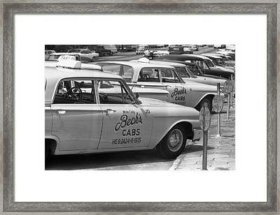 Segregated Taxi Cab Framed Print by Warren Leffler