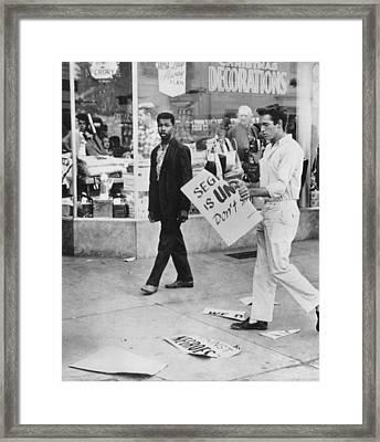 Segregation Proetsts Framed Print by Underwood Archives