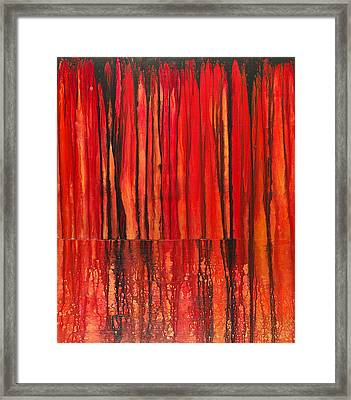 Seismic Framed Print by Cheryl Poulin