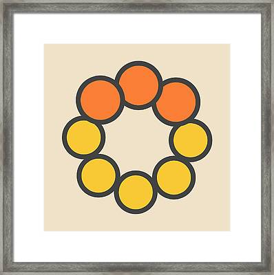 Selenium Disulfide Molecule Framed Print by Molekuul