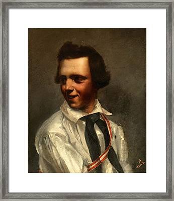 Self-portrait Framed Print by Albert Ankert