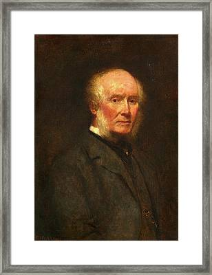 Self-portrait At The Age Of 83 Signed And Dated Framed Print by Litz Collection
