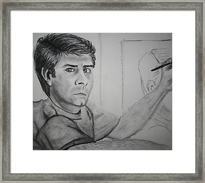 Self Portrait By Stacy C Bottoms Framed Print by Stacy C Bottoms