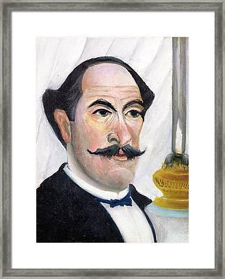 Self Portrait Framed Print by Henri J F Rousseau