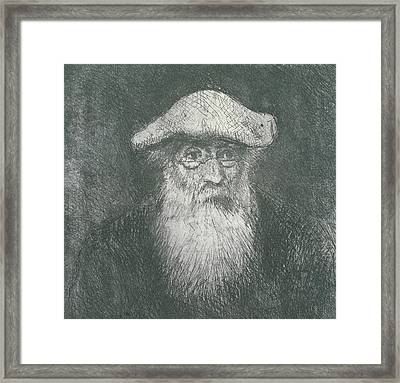 Self Portrait  Framed Print by Camille Pissarro