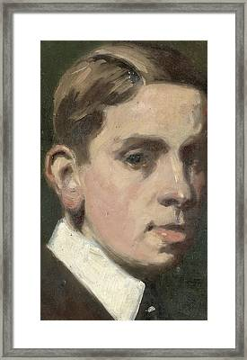 Self Portrait Framed Print by Francis Campbell Boileau Cadell