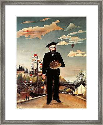 Self Portrait Framed Print by Henri Rousseau