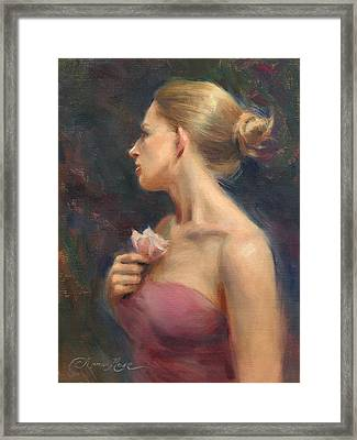 Self Portrait In Two Mirrors Framed Print by Anna Rose Bain