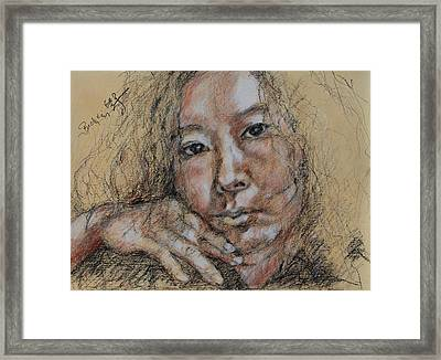 Self Portrait Of Becky Kim 2014 02 Framed Print by Becky Kim