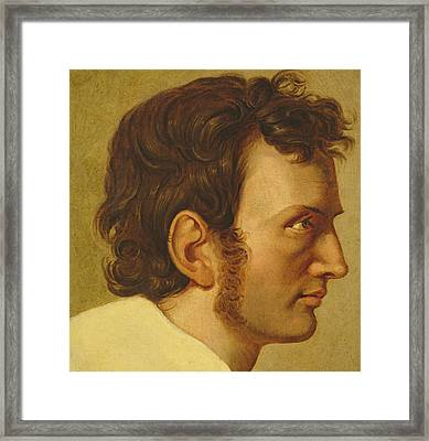 Self Portrait Framed Print by Philipp Otto Runge