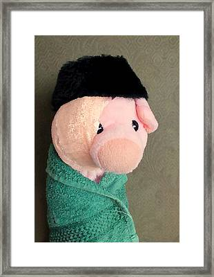 Self Portrait With Bandaged Ear Framed Print by Piggy