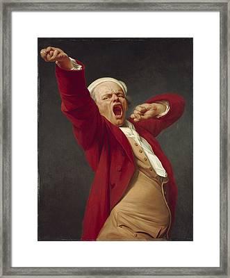 Self-portrait, Yawning, 1783  Framed Print by Joseph Ducreux