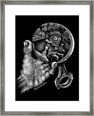 Self Reflection Framed Print by Bomonster