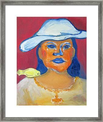 Selfportrait Framed Print by Barbara Anna Knauf