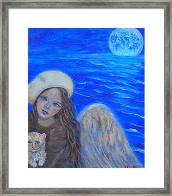 Selina Little Angel Of The Moon Framed Print by The Art With A Heart By Charlotte Phillips