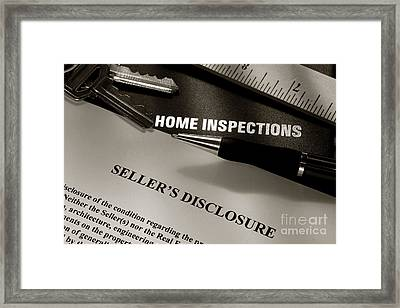 Seller Disclosure Framed Print by Olivier Le Queinec