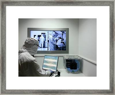 Semiconductor Manufacturing Clean Room Framed Print by Photostock-israel