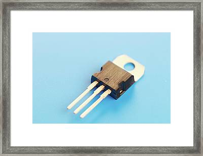 Semiconductor Transistor Framed Print by Wladimir Bulgar